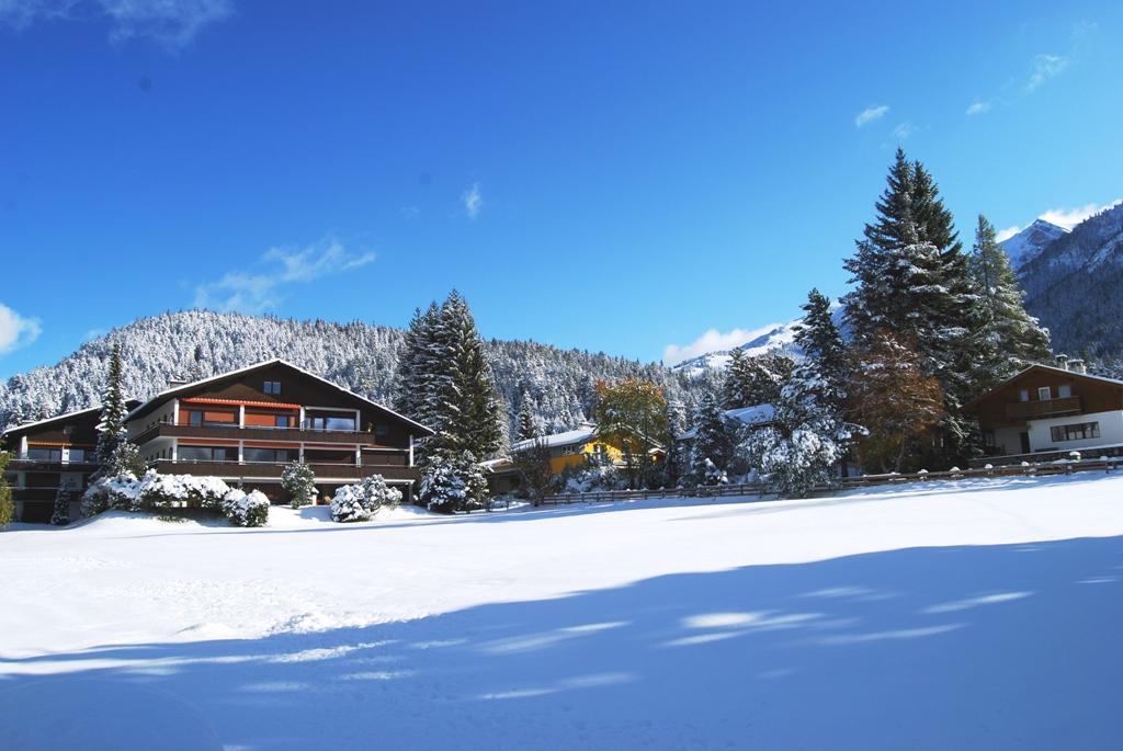 Aussicht Berghaus Tirol im Winter