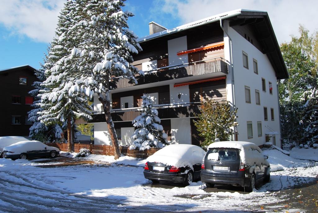 Berghaus Tirol im Winter