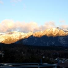 Aussicht vom Balkon vom Sonnenaufgang